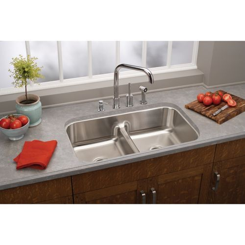 250 A Costco Elkay Stainless Steel Undermount Double Bowl Sink