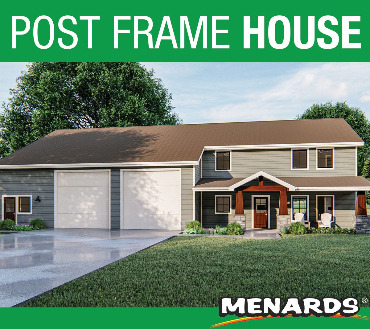 Helena Post Frame Home Material List House Materials Bookshelves Built In Building A House