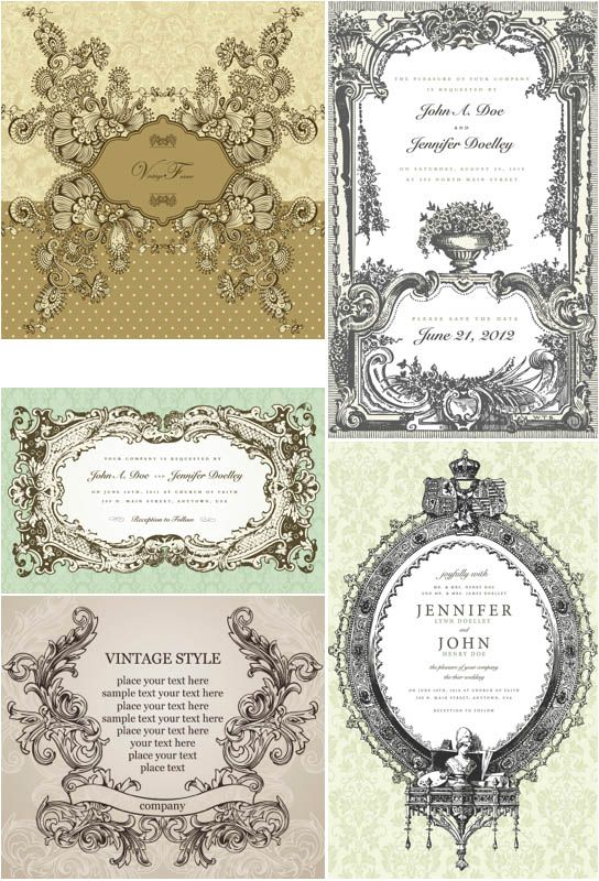 Decorative victorian frames vector resources vectors pinterest decorative victorian frames vector stopboris Choice Image