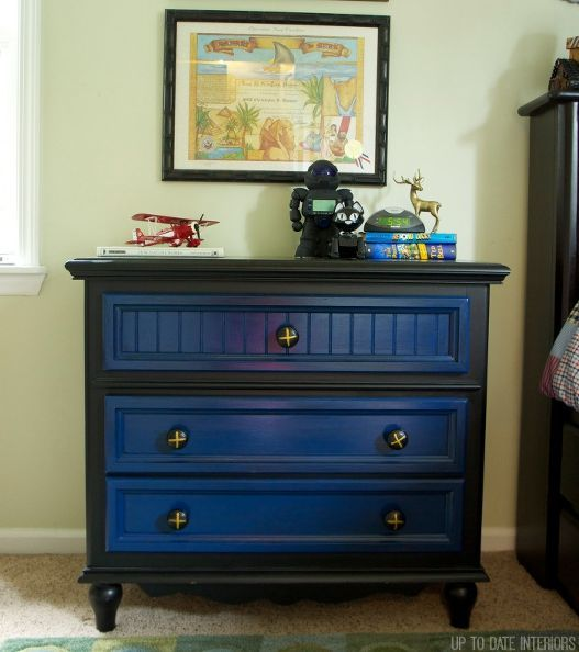 Boy S Dresser Update Bedroom Ideas Painted Furniture Black After