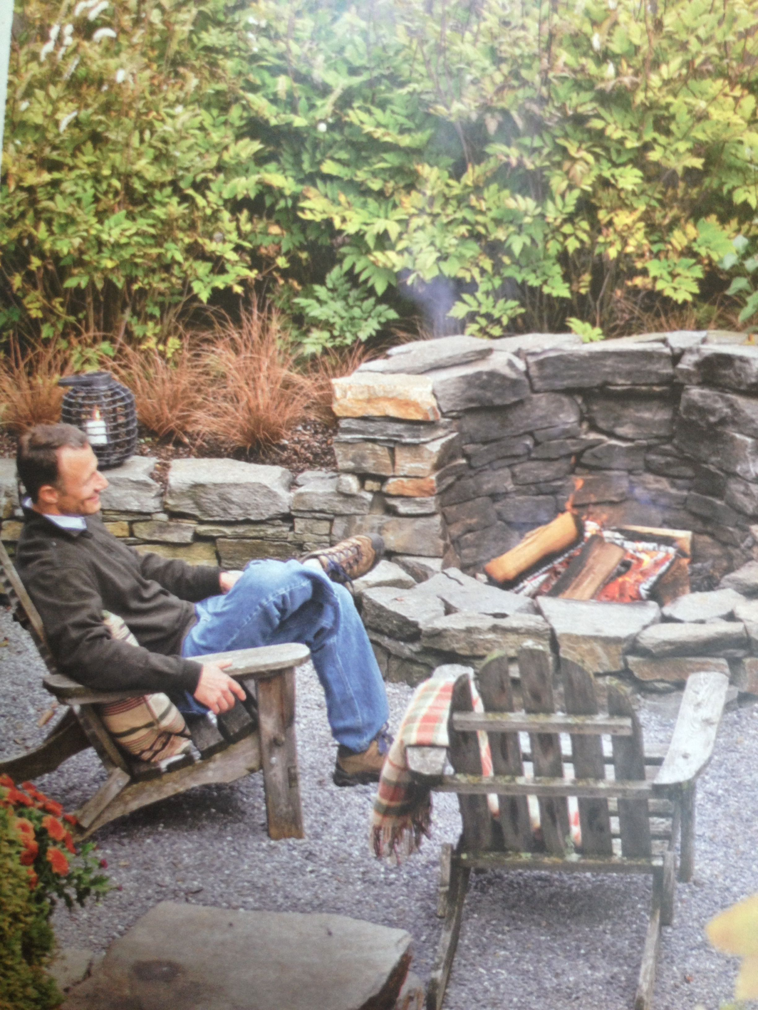 Sedge grass with this fire pit Fire pits Pinterest Grasses