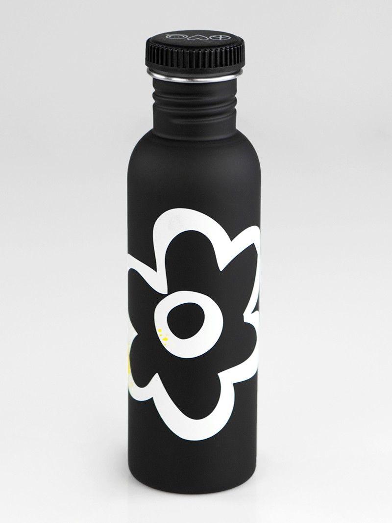 I am Sunshine Black Water Bottle//