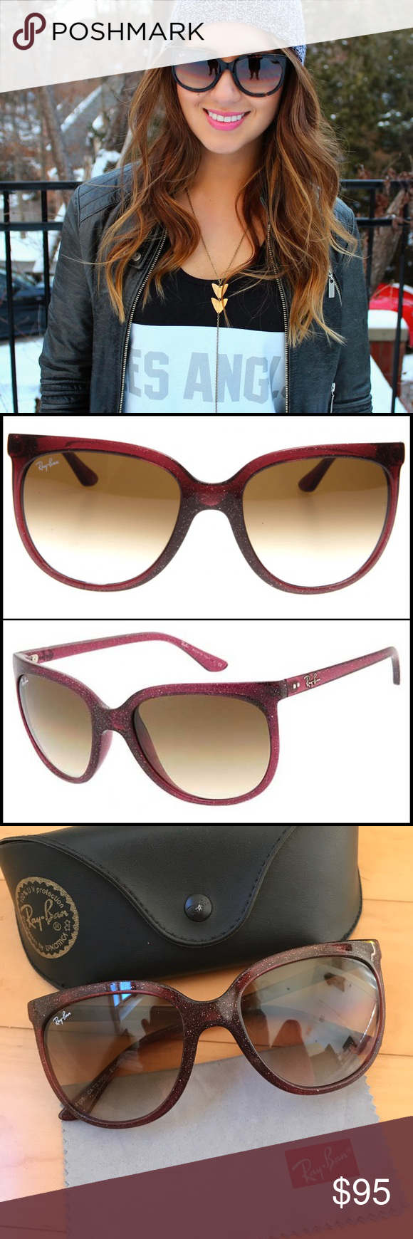 2f4bc2a24eb6e Ray-Ban Cats 1000 Glitter Sunglasses The Ray-Ban collection for this season  calls