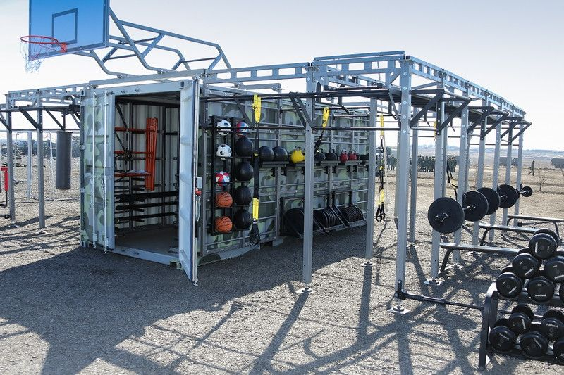 Container turned to gym buscar con google