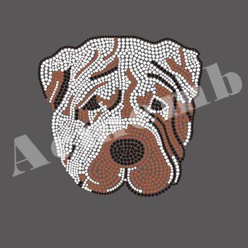 foto de Bulldog Iron on Transfers Bling Rhinestone Wholesale For Apparel ...