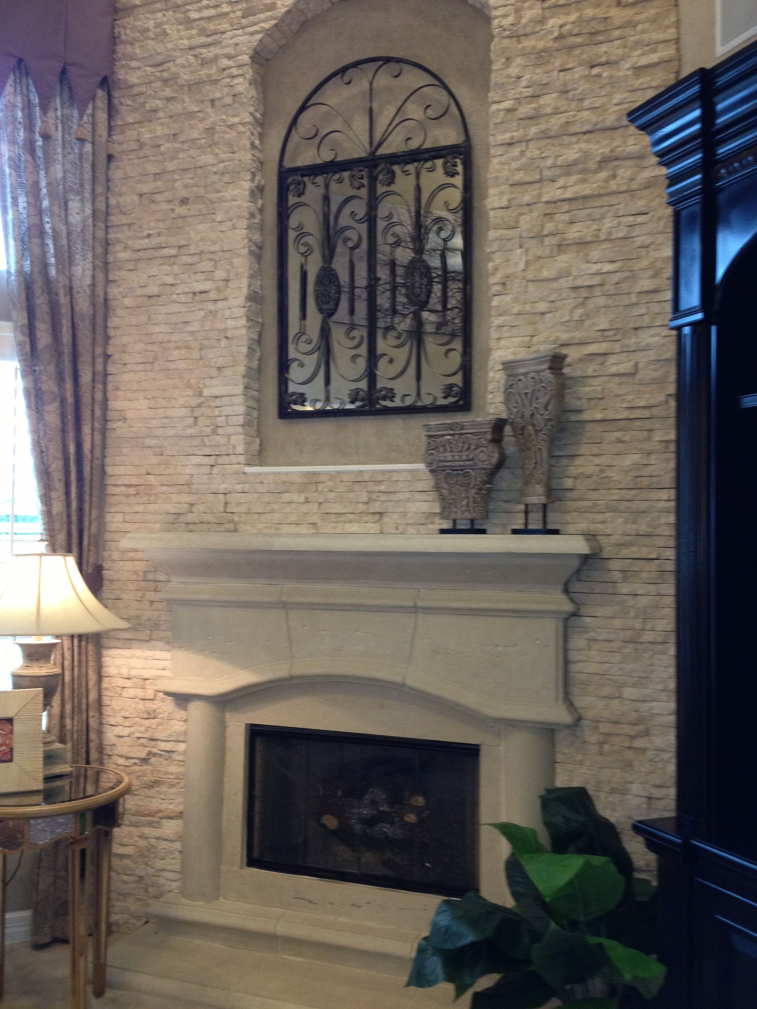 Cast Stone And Stack Stone Fireplace Surround Cast Fireplace