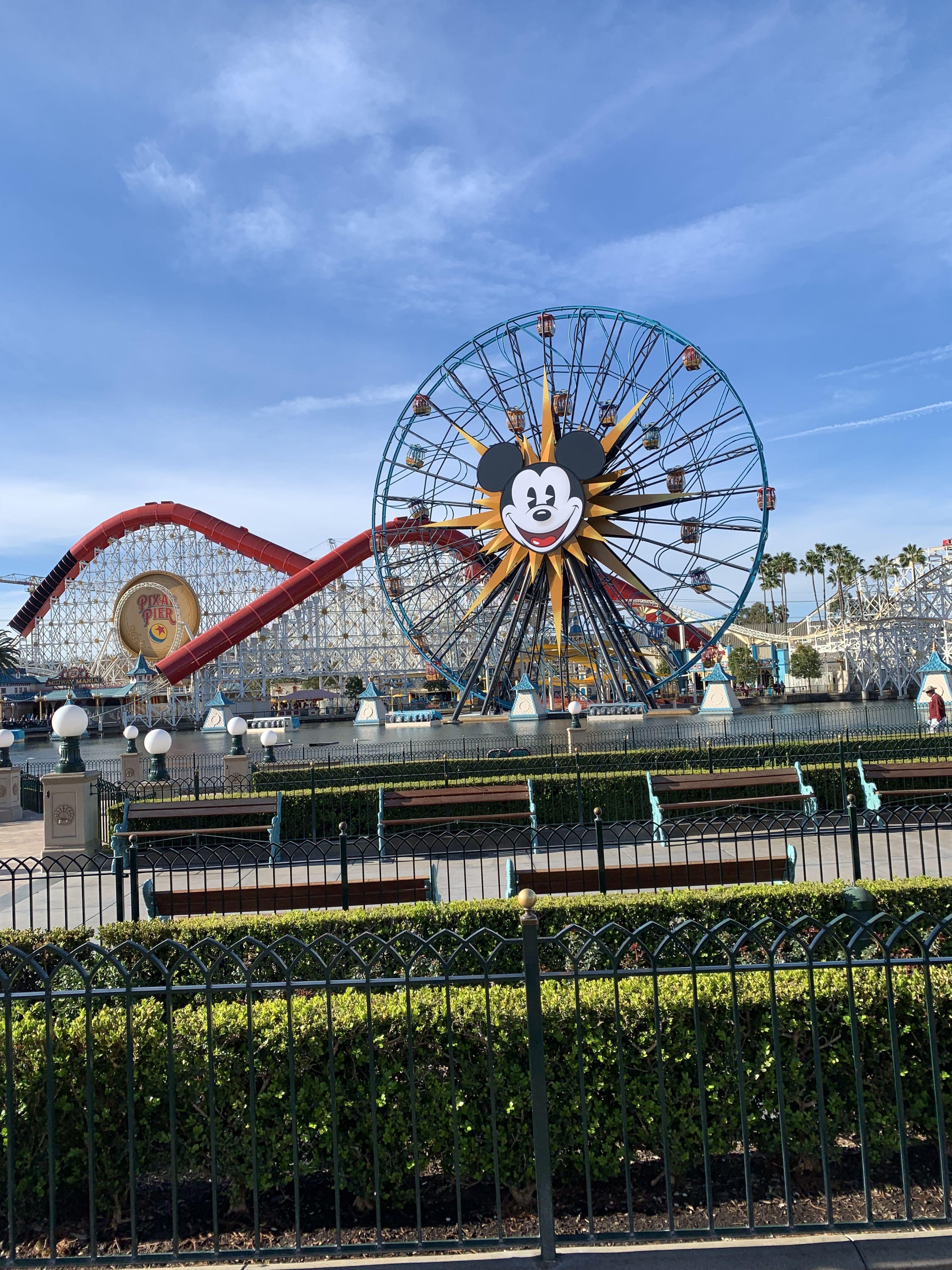 Ferris Wheel California Adventure California Adventure Disney California Adventure Disney California Fence ferris wheel 4k hd photography