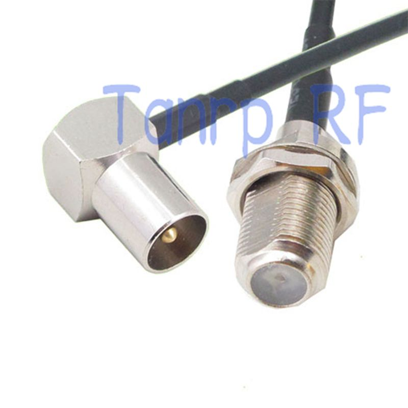 50cm Pigtail Coaxial Jumper Rg174 Extension Cord Cable 20in Tv Male Plug Right Angle To F Female Jack Rf Conne Rf Connector Extension Cord Electrical Equipment