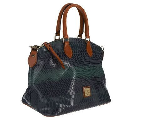 Product image of Dooney & Bourke Embossed Snakeskin Leather Satchel