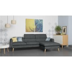 Stylefy Nuno Ecksofa Grau Velours In 2020 Kunstleder Ecksofa Grau Sofa