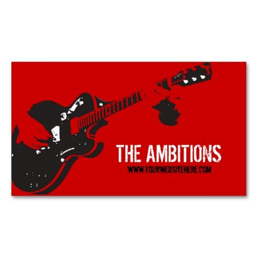 Musician business cards in red and black business cards music musician business cards in red and black colourmoves