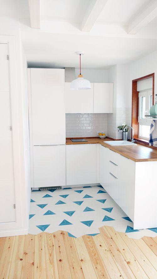 Cocina y ba o hexagonales en c diz mod 600 baldosas - Azulejos hexagonales bano ...
