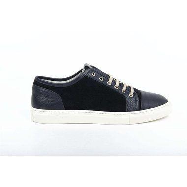 Versace 19.69 Abbigliamento Sportivo SRL Milano Italia Mens Sneaker 5323 Vitello Alce Bott- Blu Camoscio Navy