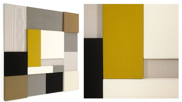 The Ghost Of Mondrian Haunts These Sound Absorbing Wall Panels Acoustic Wall Panels Sound Panel Acoustic Wall