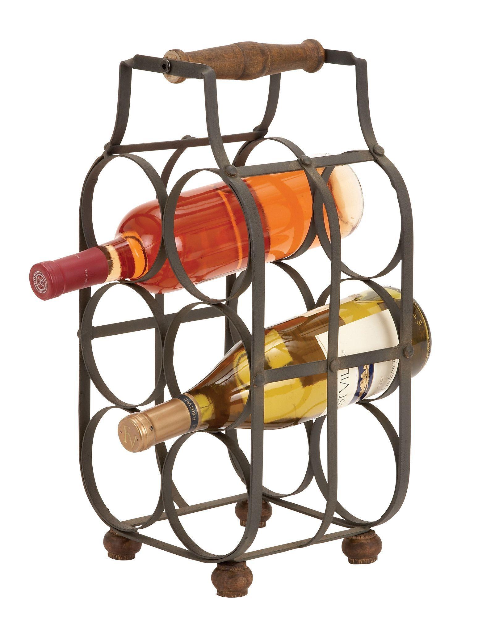 Kremmling 6 Bottle Tabletop Wine Bottle Rack Wine Bottle Rack