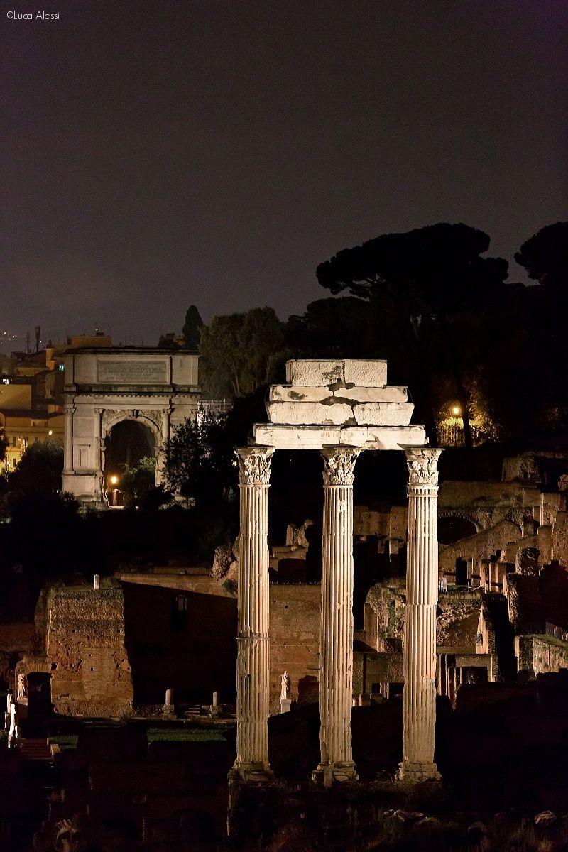 Roman Forum at Night, Rome, Italy Lazio Roma italia