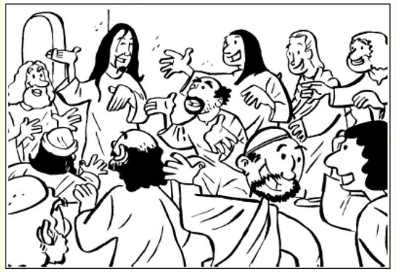 Pinto Dibujos: Primera aparición de Jesús ante sus discípulos para ...