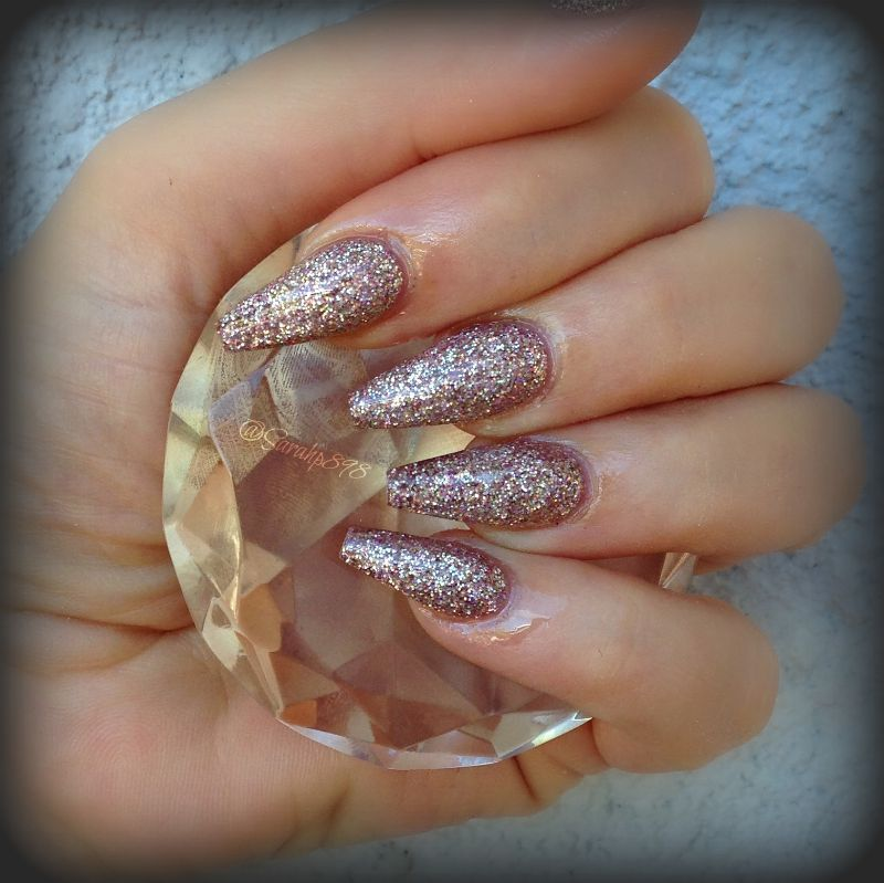 Rosegold coffin nails rose gold nails sarahp898 nail - Nageldesign beige gold ...