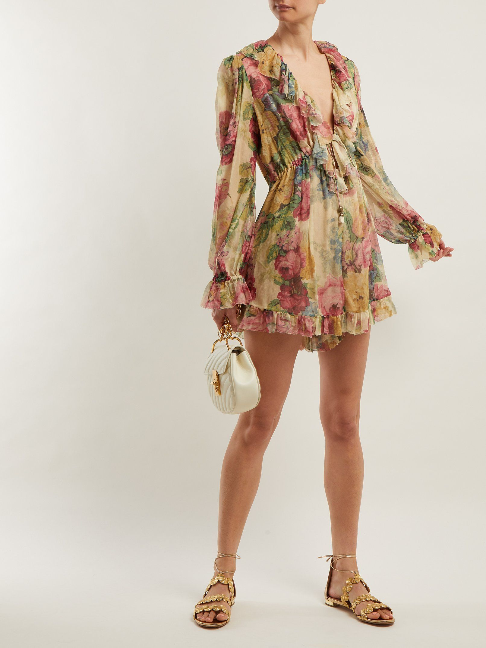 a91f3655b4f Melody Floating floral-print silk playsuit