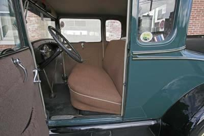 1929 ford model a 5 window coupe interior front seat and door panel lebaron bonney company. Black Bedroom Furniture Sets. Home Design Ideas