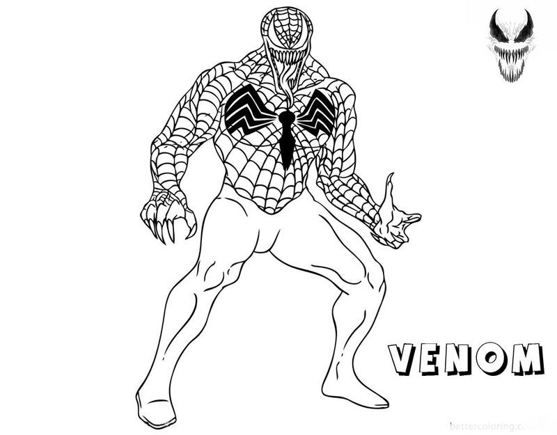New Venom Coloring Pages In 2020 Coloring Pages To Print Coloring Pages Printable Coloring Pages