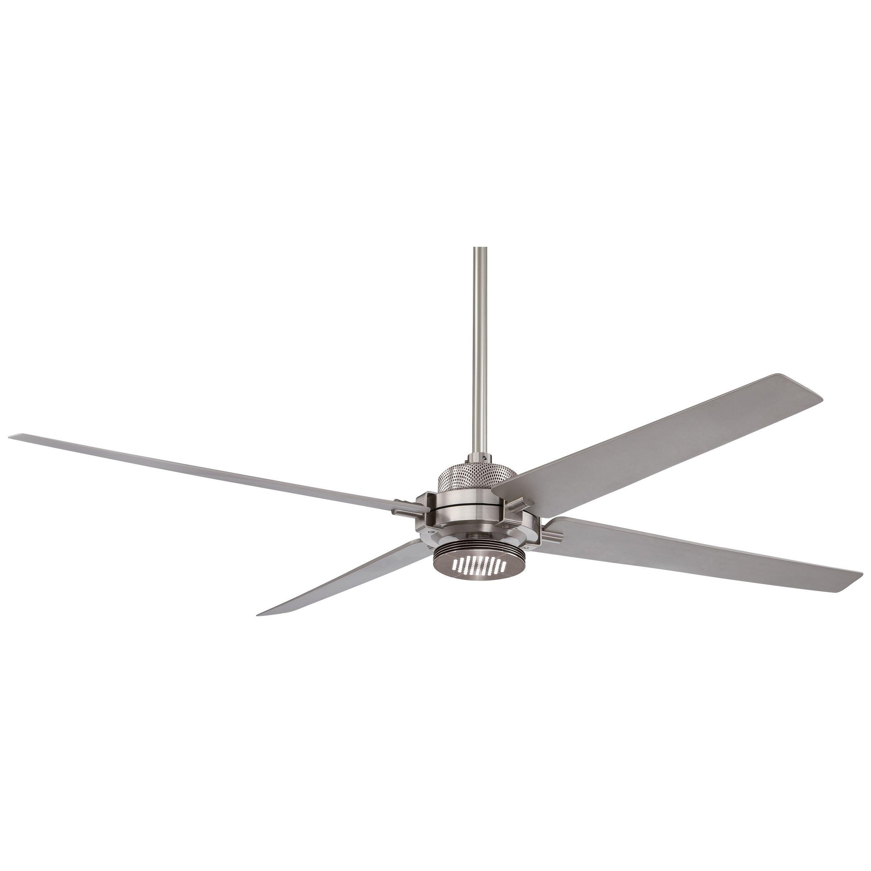 MinkaAire Minka Aire Spectre Ceiling Fan Silver Aluminum