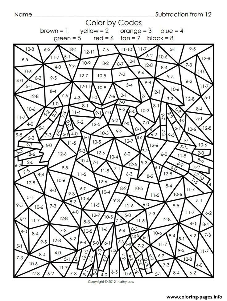 Print color by number adults maths coloring pages colouring - best of halloween coloring pages 3rd grade