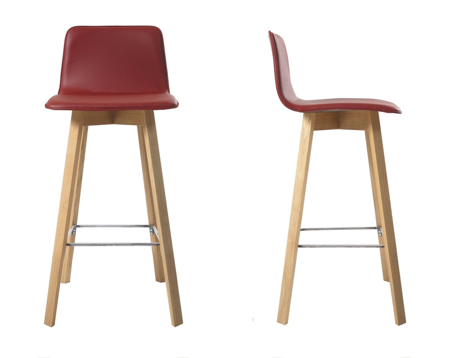Kitchen Stools With Backs Contemporary Wooden Upholstered ...
