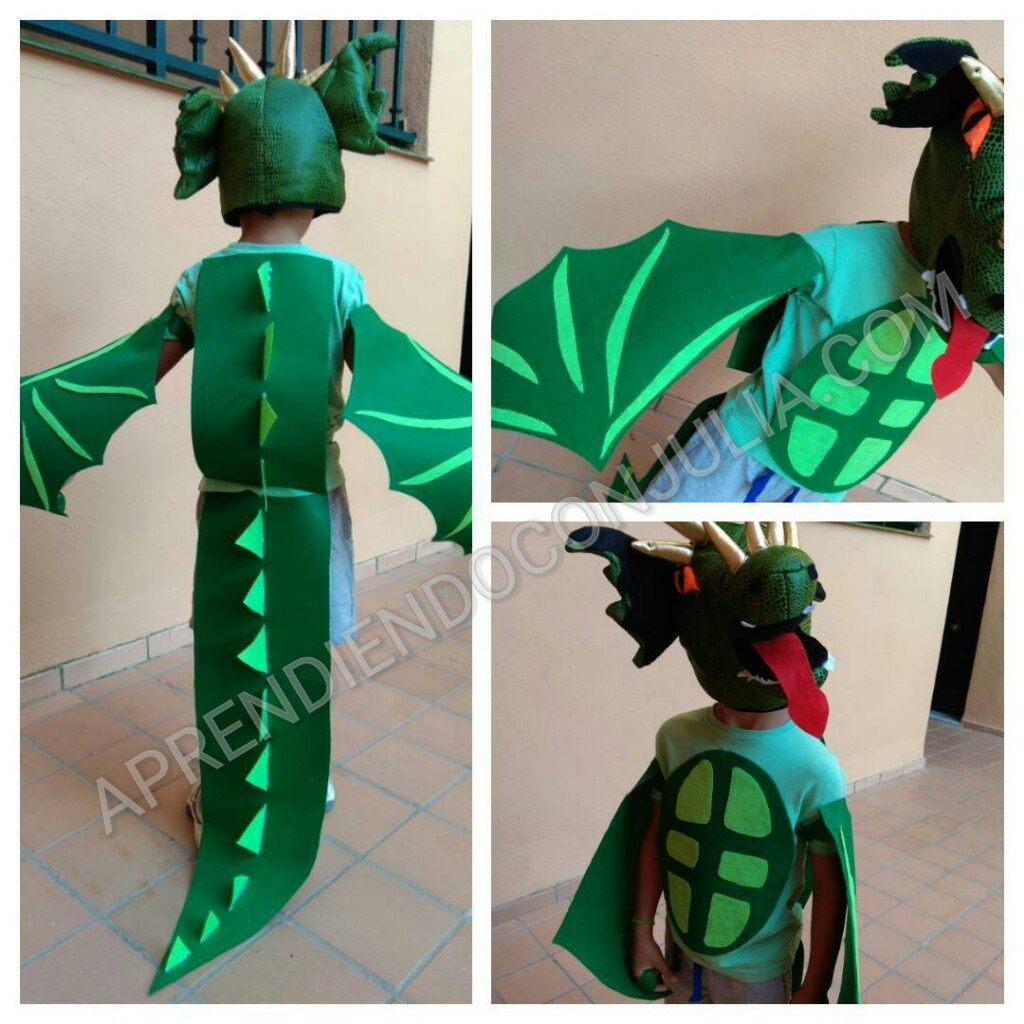 fdac7a68e Disfraz casero de dragón Aprendiendo con Julia | Kids and parenting ...
