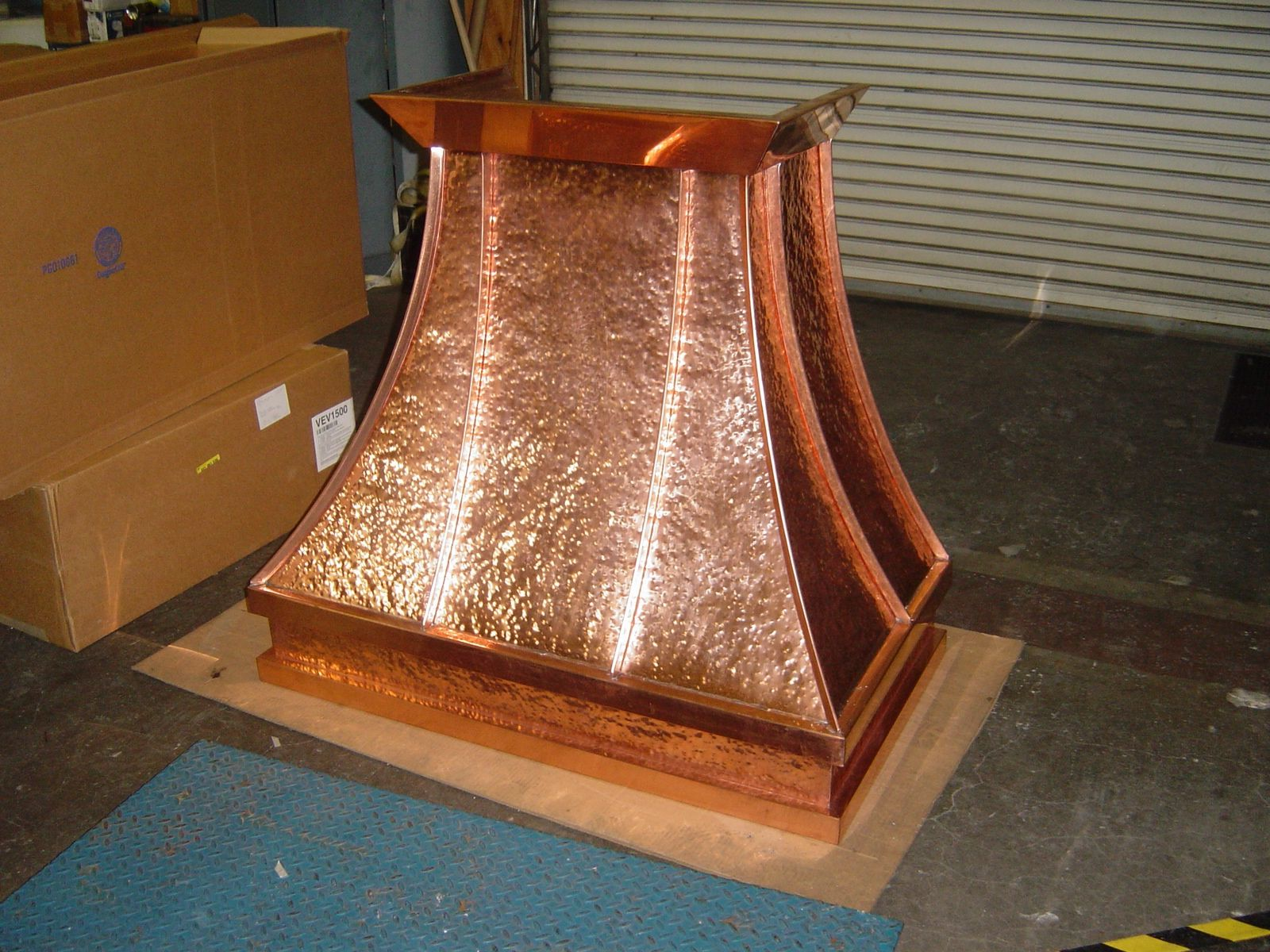 Hand Hammered Copper Kitchen Hood