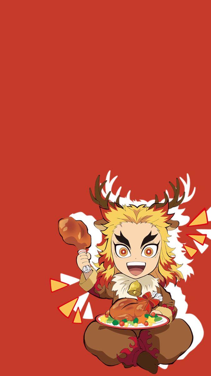 Rengoku Anime Demon Anime Chibi Anime King Anime chibi wallpaper red