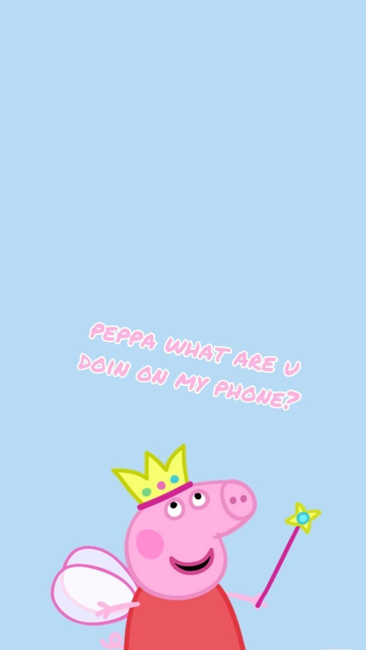 Pin By Yellow Aesthetic Wallpaper On Disney Phone Wallpaper Peppa Pig Wallpaper Pig Wallpaper Funny Iphone Wallpaper