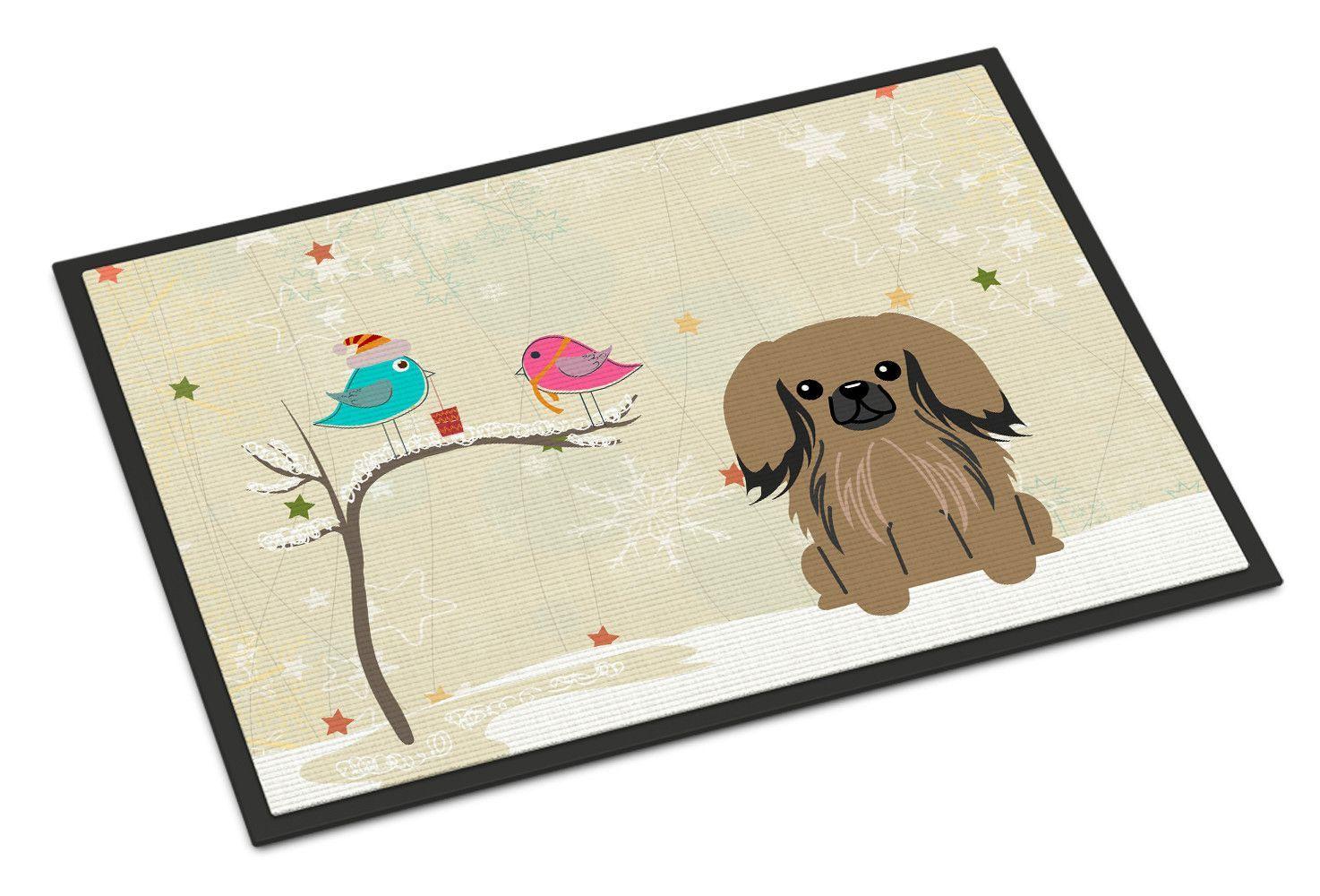 Christmas Presents Between Friends Pekingese Doormat