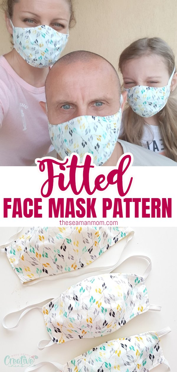 Photo of Fitted Face Mask Pattern | Easy Peasy Creative Ideas