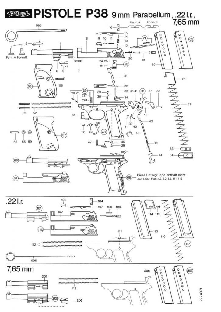 Walther Pp Parts Diagram Wiring Schematic Diagram