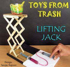 Toys from Trash - DIY hydraulic lift engineering activity! #STEM