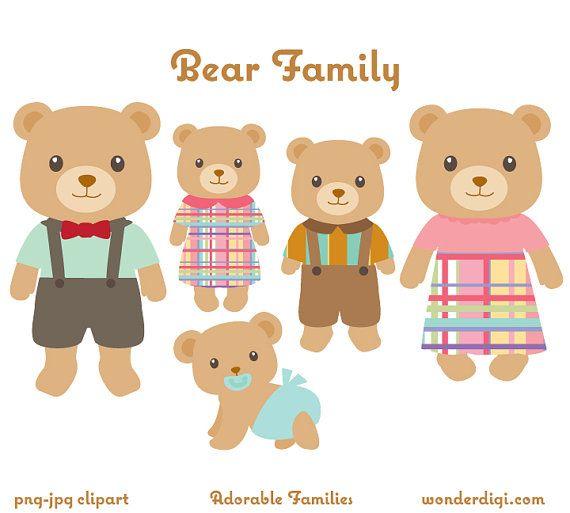Oso Animales Lindos Imagenes Predisenadas Imagenes Predisenadas Oso Familia Clip Art Osos Animal Clipart De Fami Family Clip Art Bear Family Bear Clipart