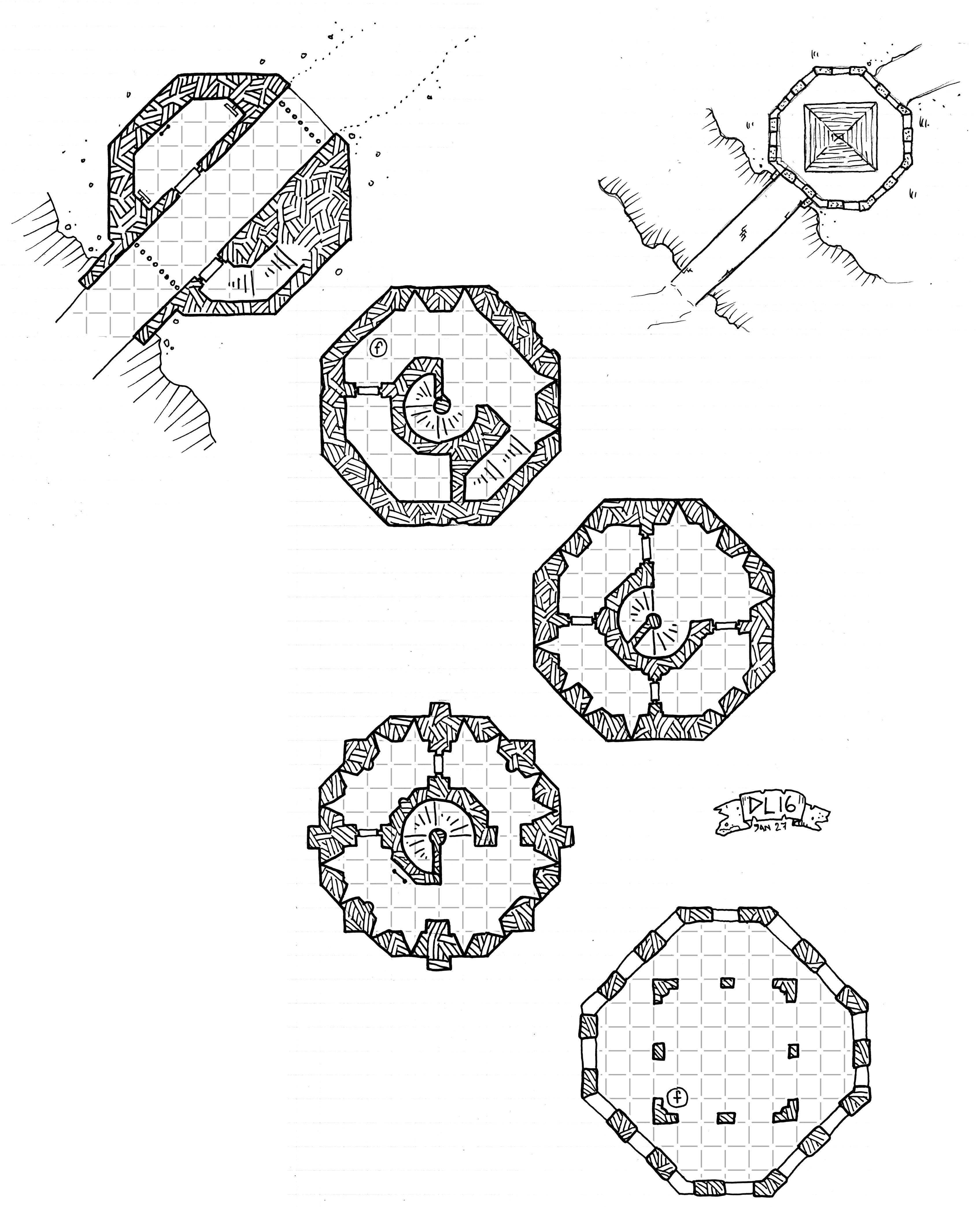 Inked Adventures Hand Drawn Geomorph Tiles Dnd In