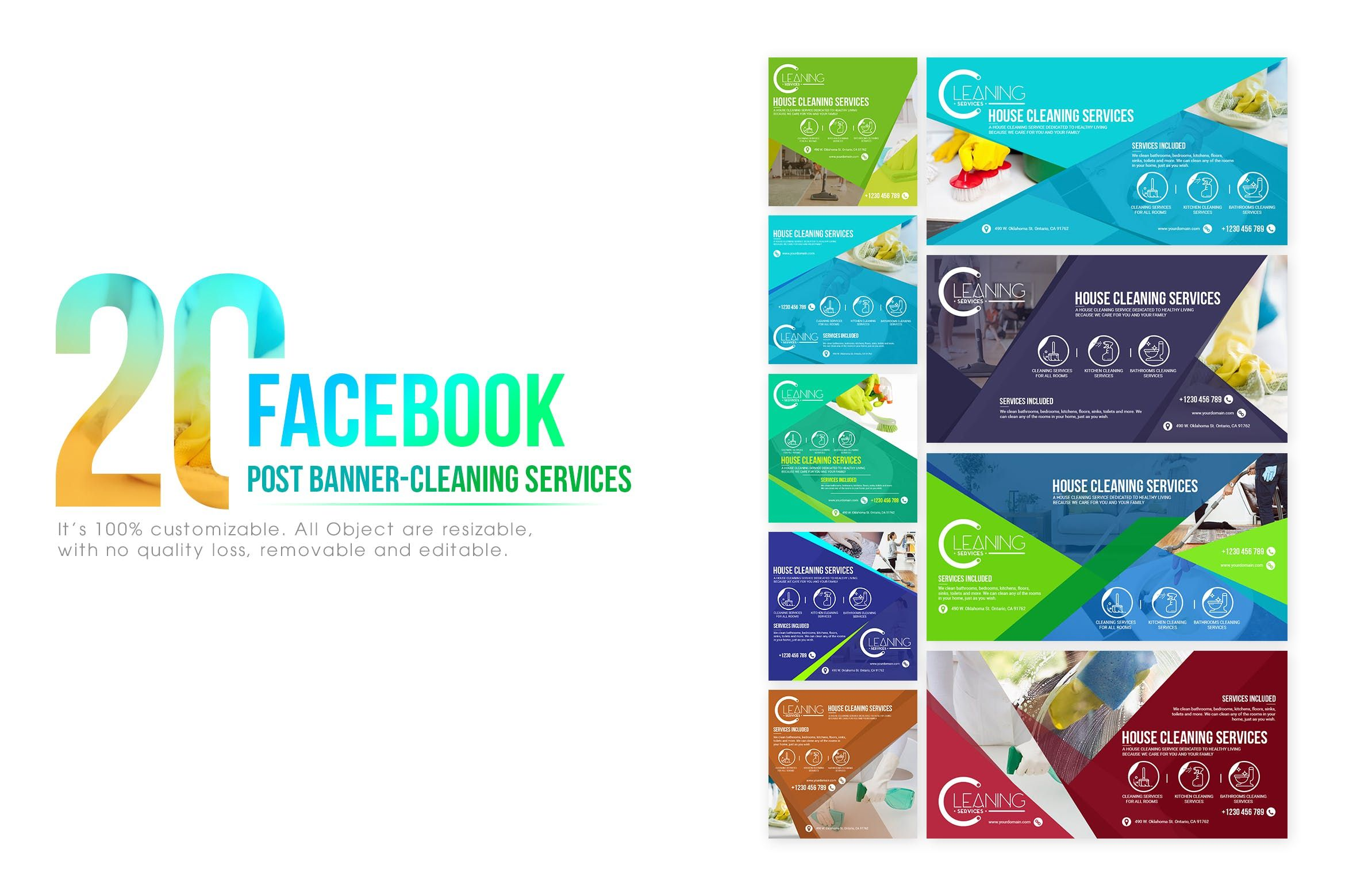 20 Facebook Post Banner – Cleaning Service #clean, #cleaner