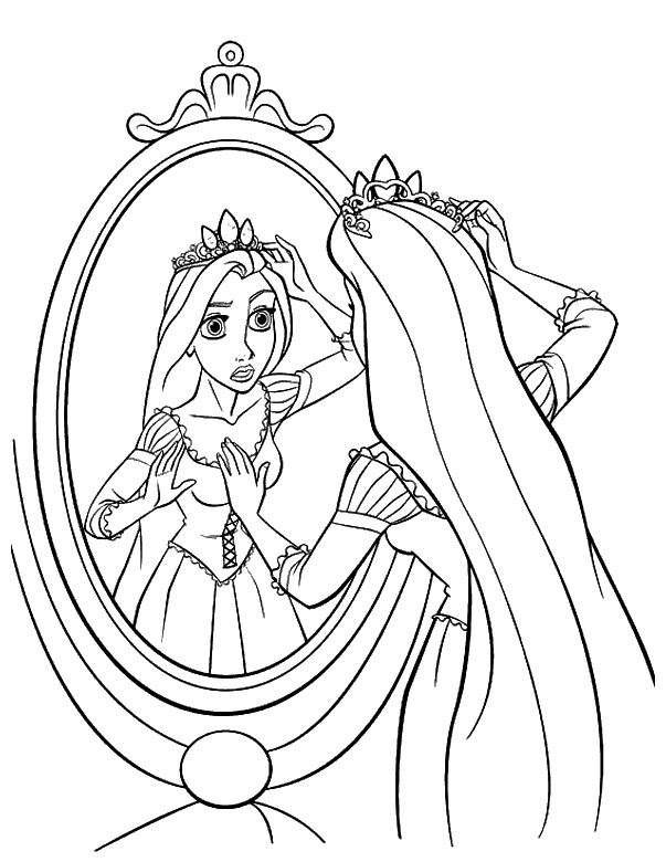Ausmalbilder Für Kinder Prinzessin Rapunzel Coloring Pages