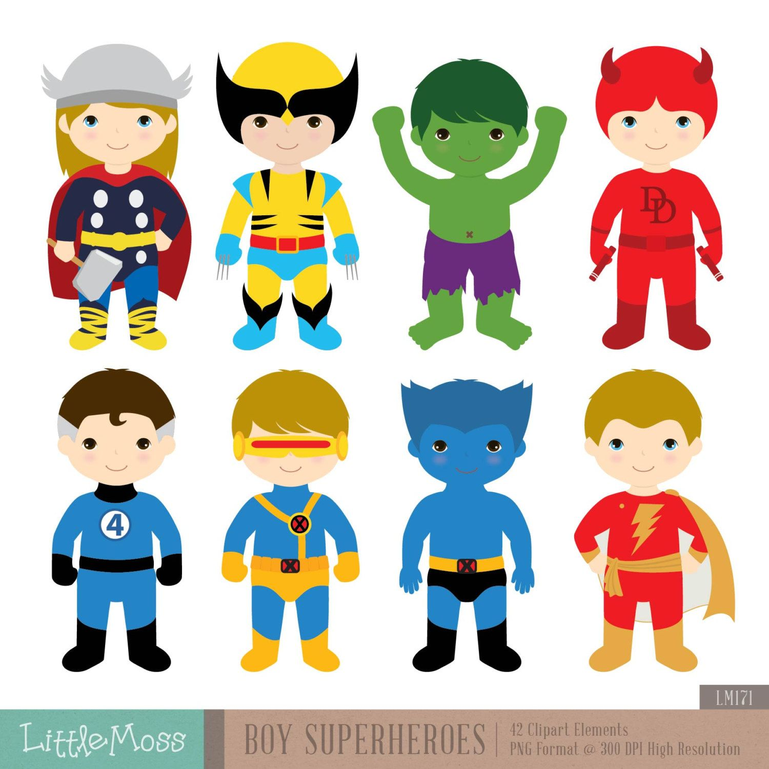 Superhero Art For Little Boys