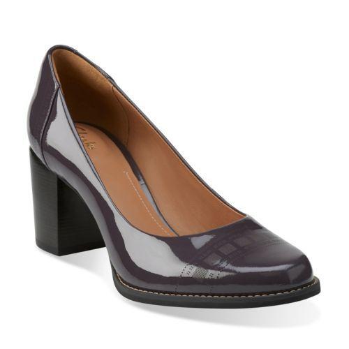 Tarah Sofia Purple Grey Patent - Clarks Womens Shoes - Womens Heels and Flats - Clarks - Clarks