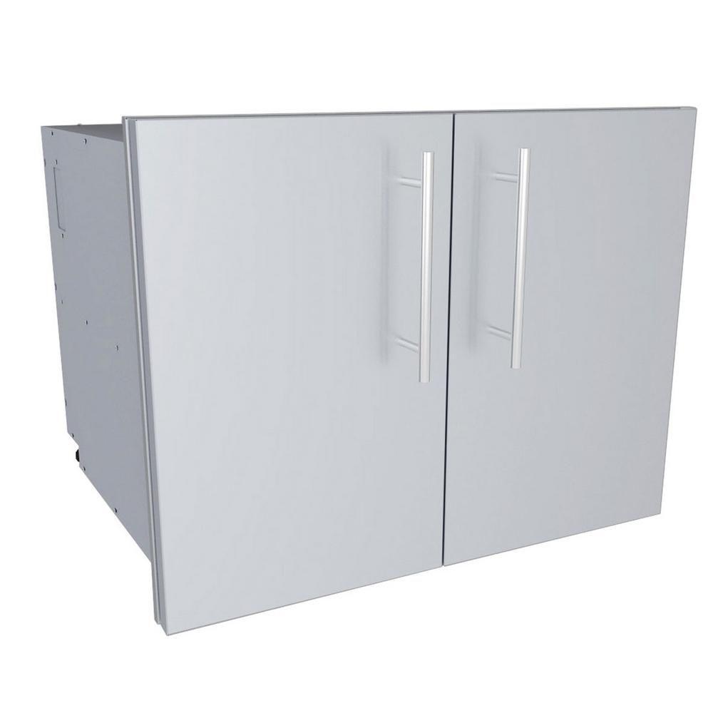 Sunstone Designer Series Raised Style 30 In Double Door Dry Storage Pantry Door Storage Storage Modern Outdoor Kitchen