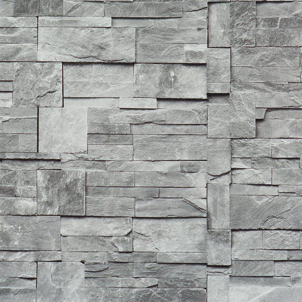 Walls Republic R187 Block Stone Pattern Wallpaper