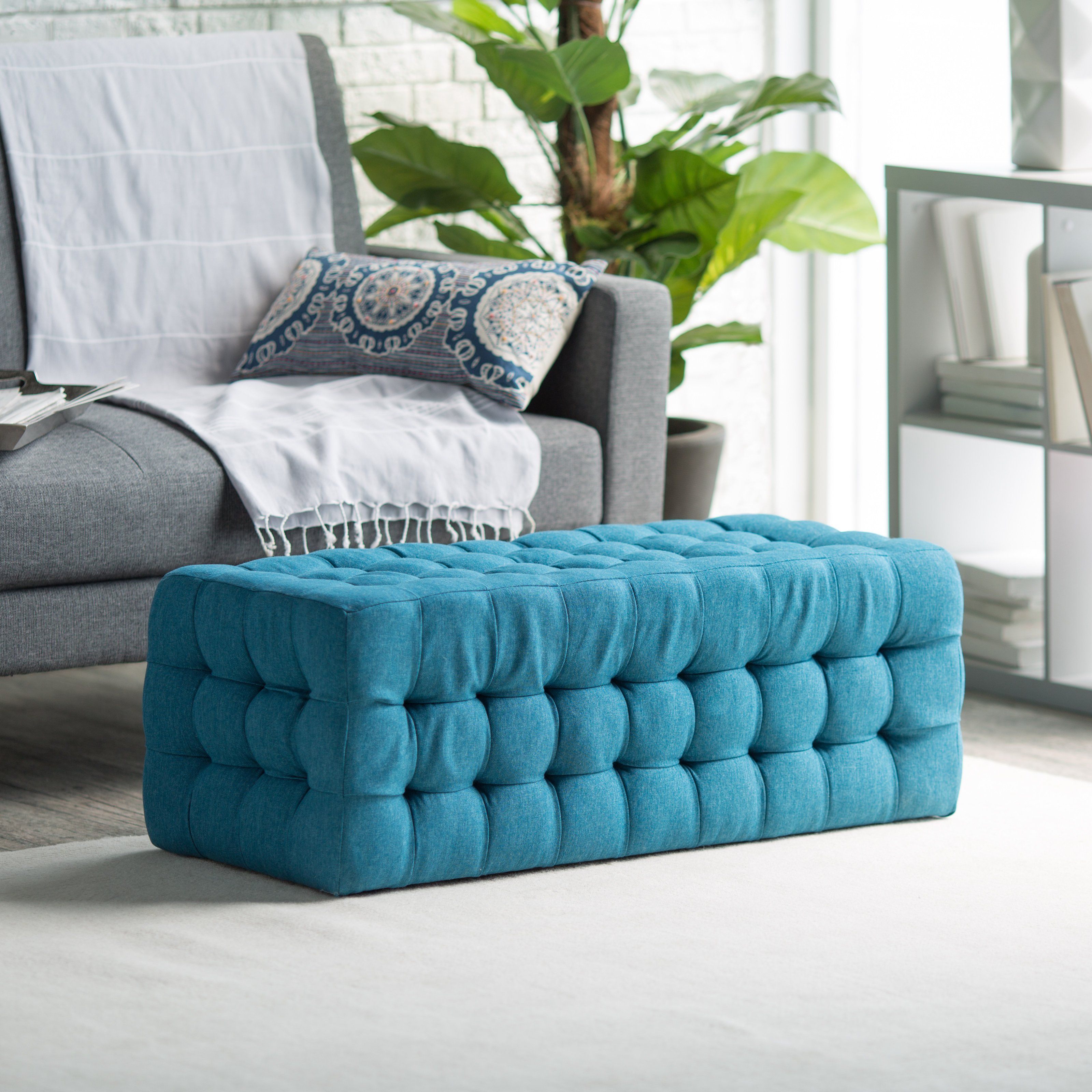 Have to have it belham living allover tufted rectangle ottoman belham living allover tufted rectangle ottoman teal 16998 ottoman coffee tablesupholstered geotapseo Image collections