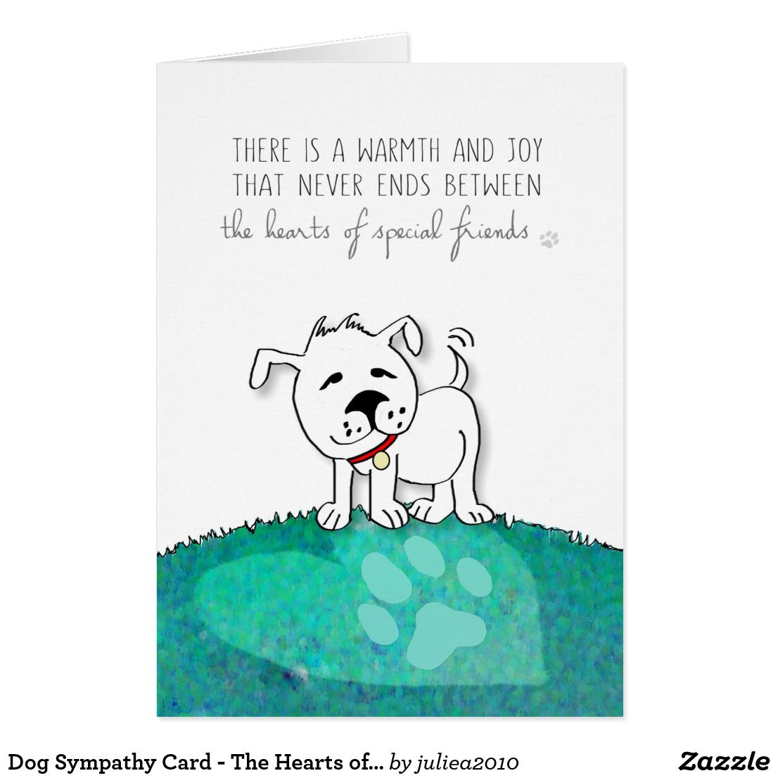 dog sympathy card the hearts of special friends pet gifts pet