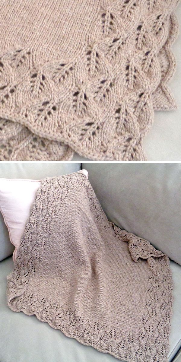 Bordered Baby Blanket Knitting Patterns #babyblanket