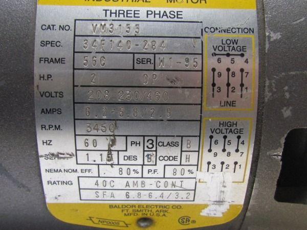 leeson 3 phase motor wiring diagram