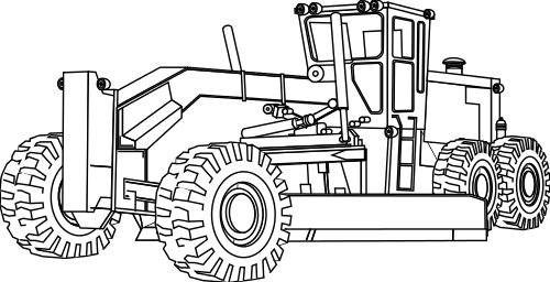 Grader Outline Working Vehicles Grader Grader Outline Png Html Tractor Coloring Pages Truck Coloring Pages Coloring Books