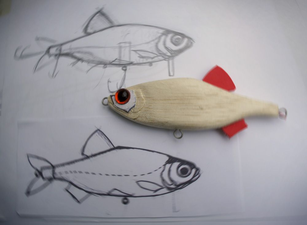 how to make fishing lures: making crankbaits - super shad rap copy, Hard Baits